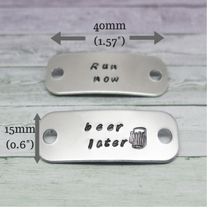 theta_jewellery_Personalised Trainer Tags - Beer Lovers Gift Idea