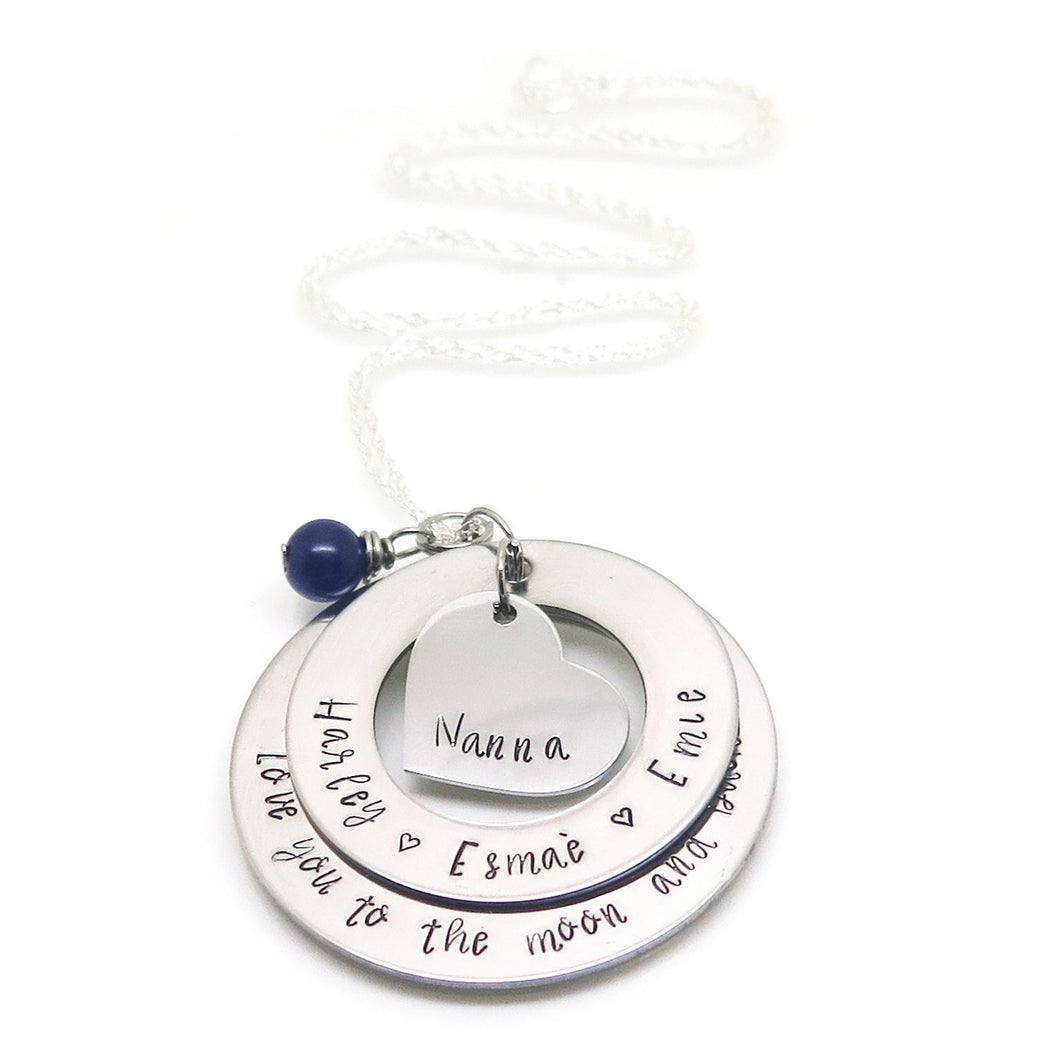 theta_jewellery_Personalised Two Ring Necklace