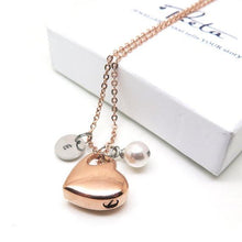theta_jewellery_Rose Gold Colour Cremation Necklace for Ashes