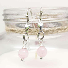 Rose Quartz Gemstone Drop Earrings