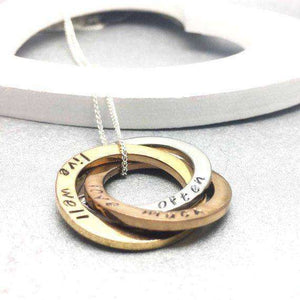 Bridal Necklace hand stamped with Live Well, Love Much, Laugh Often