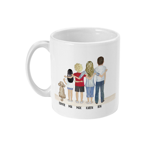 theta_jewellery_Standing Family Personalised Coffee Mug