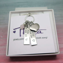 Hand Stamped Tag Necklace in a gift box
