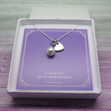 theta_jewellery_Will You Be My Bridesmaid Gift -  Pearl and Heart Necklace
