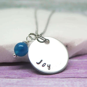 Wish Word Disc Necklace