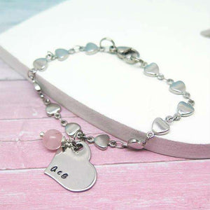 Wish Word Heart Bracelet