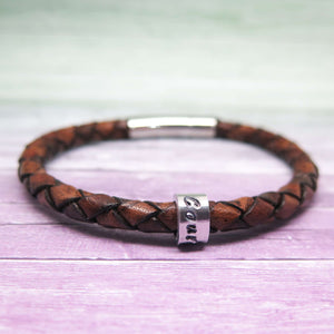 theta_jewellery_Wish Word Leather Bracelet