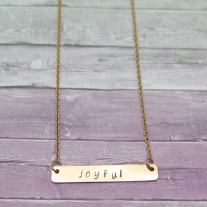 Wish Word Necklace