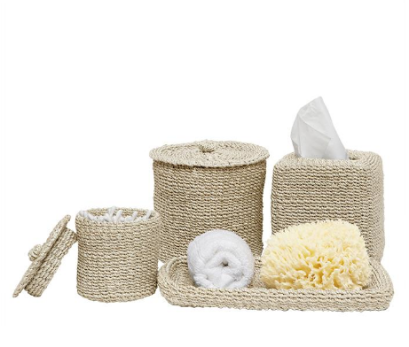 Chelston Bleached Abaca Bathroom Accessories