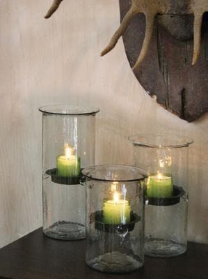 Hurricane Candle Holders with Insert