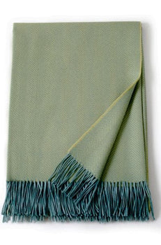 Montreal Sea Green & Hazy Blue Alpaca Throw