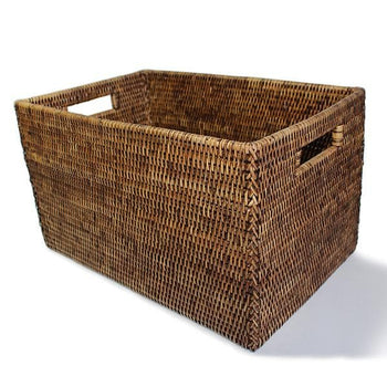 Rattan Large Rectangle Storage Basket