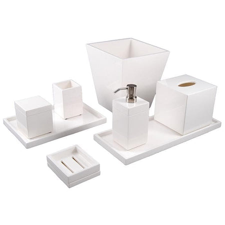 White Lacquer Bathroom Accessories