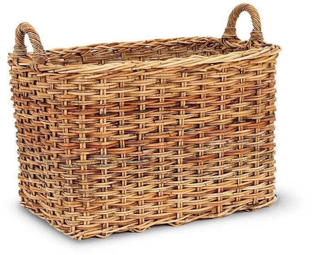 French Country Rattan Mud Room Basket