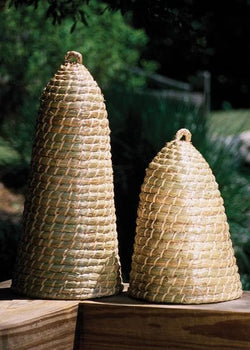 Tall Bee Skep Cloche 19""
