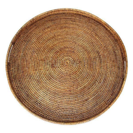 Rattan Tray w/ Handle Round 26""