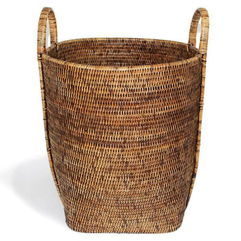 Rattan Round Laundry Basket w/Loop
