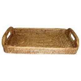 Rattan Tray Morning Rectangular Small 12""