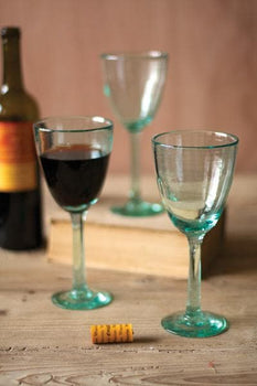 Recycled Wine Glasses S/6