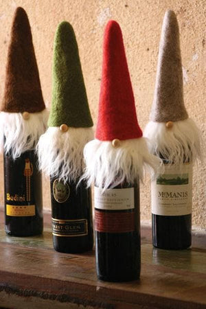 Felt Santa Wine Bottle Toppers Set of Four