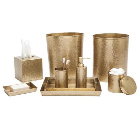 Verum Antique Brass Hammered Metal Bathroom Accessories