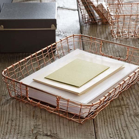Cabo Copper Wire Letter Basket