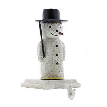 Snowman Stocking Holder - Cast Iron