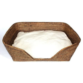 Rattan Dog Bed Basket 26""