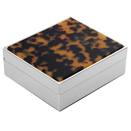 Addison Ross Faux Tortoise Box Silver
