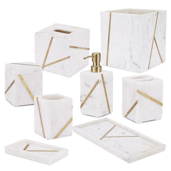 Mont Blanc Marble Bathroom Accessories