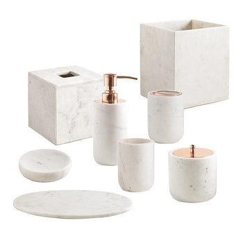 Pietra Marble Bathroom Accessories by Kassatex