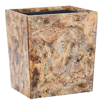 Adana Marbleized Shell Rectangle Waste Basket