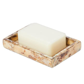 Adana Marbleized Shell Soap Dish
