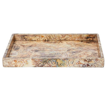 Adana Marbleized Shell Large Tray