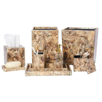 Adana Marbleized Shell Tissue Box