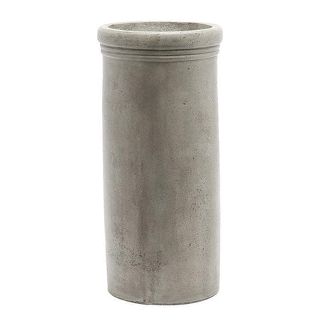 Elrick Dark Gray Concrete Umbrella Stand - Large