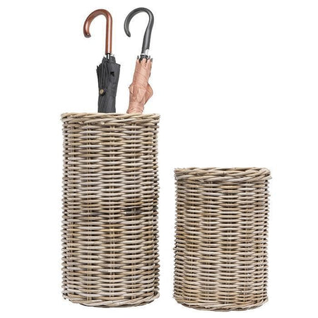 Malta Rattan Umbrella Stand (Mixed Gray) - Small
