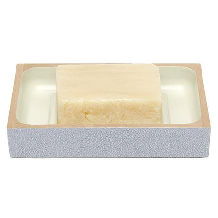 Manchester Faux Shagreen Soap Dish (Cloud Gray)