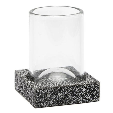Manchester Faux Shagreen Tumbler Set/2 (Cool Gray)