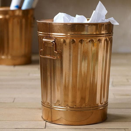 Otzi Copper Waste Basket