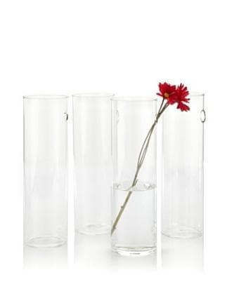 Glass Cylinder Wall Vase