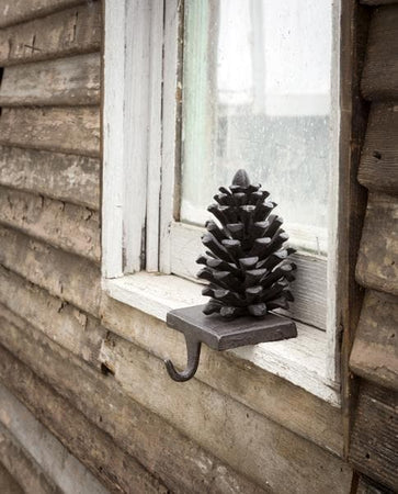 Pinecone Stocking Holder - Cast Iron