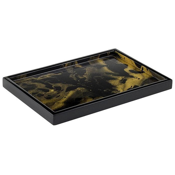 Black Gold Marble Lacquer Bathroom Accessories