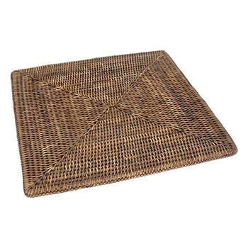 "Square Rattan Placemat 15"" (Set/2)"