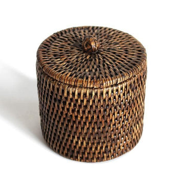 Rattan Small Bathroom Containers Set/2