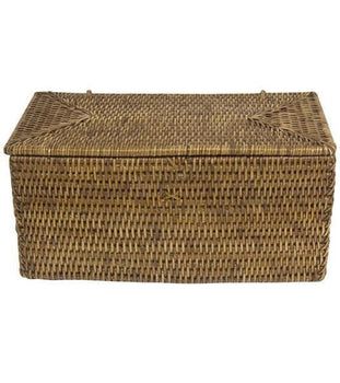 Rattan Double Toilet Paper Holder