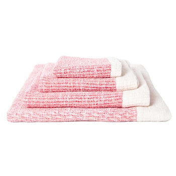Ribbed Cotton Bath Towel (Red)