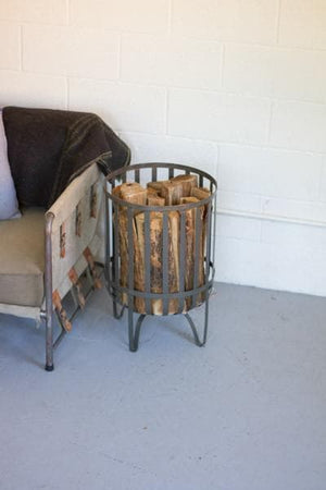 Raw Metal Log Baskets