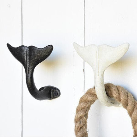 Whale Tail Wall Hook - Black Set/4