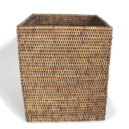 Rattan Waste Basket Square